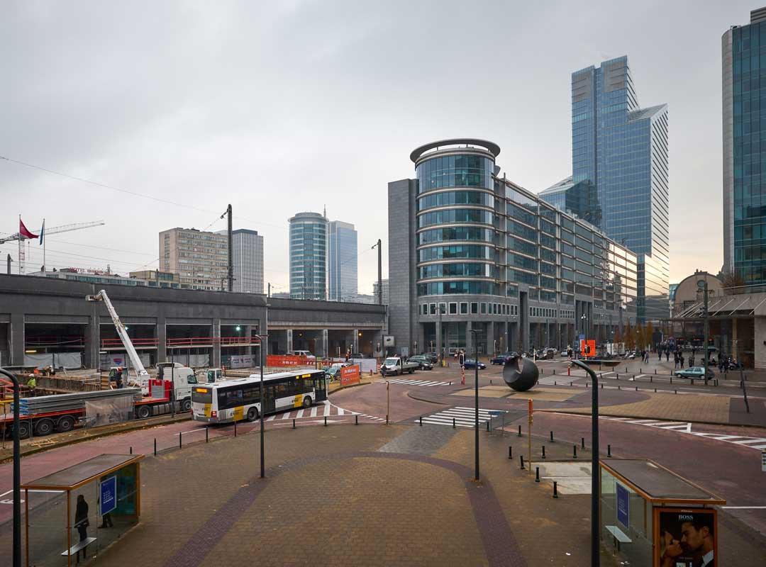 Wolkenkrabbers nabij Brussels Noordstation